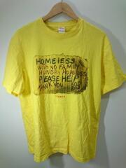 Tシャツ/L/コットン/イエロー