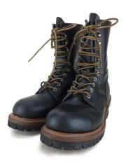 8210/LOGGER BOOTS/ロガーブーツ/ブーツ/US9/D/BLK