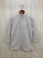 7分袖シャツ/2/コットン/BEG/ギンガムCK/D1M09-108-42