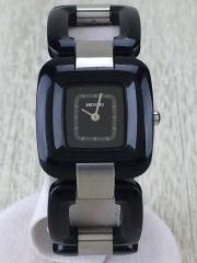 クォーツ腕時計/アナログ/--/BLK/BLK/THE SISI/OUI OUI