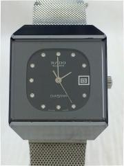 クォーツ腕時計/アナログ/ステンレス/BLK/SLV/711.0067.3.N