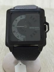 腕時計/デジタル/レザー/BLK/DZ-1563
