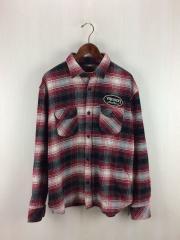 ネルシャツ/XL/コットン/RED/チェック