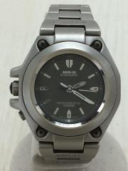 クォーツ腕時計/アナログ/チタン/GRY