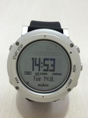 クォーツ腕時計/デジタル/SLV/BLK
