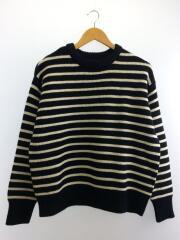 セーター(厚手)/--/ウール/NVY/ボーダー