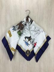 スカーフ/シルク/WHT