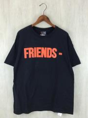 Tシャツ/XL/コットン/BLK/FRIENDSロゴ/プリントT