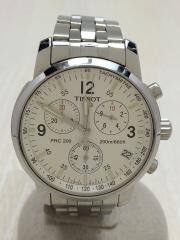 クォーツ腕時計/アナログ/ステンレス/ホワイト