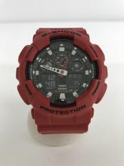 クォーツ腕時計/G-SHOCK/デジアナ/レッド/GA-100B-4AJF