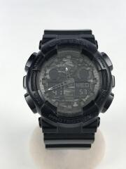 クォーツ腕時計/G-SHOCK/デジアナ/ブラック/GA-100CF-1AJF