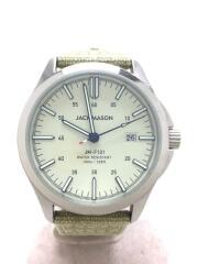 JACK MASON/クォーツ腕時計/アナログ/--/WHT/JM-F101-004