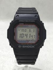 ソーラー腕時計/デジタル/ラバー/BLK/GW-M5610