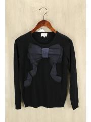 セーター(薄手)/38/ウール/BLK/ランバンオンブルー/エレガンス/中古/セカスト
