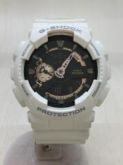 クォーツ腕時計・G-SHOCK/Gショック/デジアナ/ラバー/ホワイト/ブラック/GA-110RG