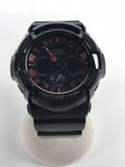 クォーツ腕時計・G-SHOCK/Gショック/デジアナ/ブラック/GA-200SH/箱付