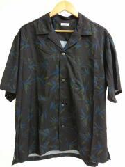 半袖シャツ/byオープンカラー パーム アロハシャツ/XL/ポリエステル/ブラック/1216-149-277