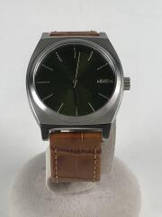 腕時計/アナログ/レザー/KHK/BRW