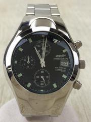 腕時計/アナログ/BLK/SLV
