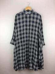 7分袖ワンピース/FREE/コットン/BLK/19-040-200-1000/フォークプリントドレス