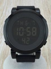 クォーツ腕時計/デジタル/BLK/BLK