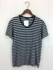 Tシャツ/42/コットン/BLK/ボーダー