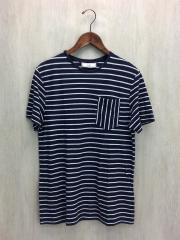 Tシャツ/XS/コットン/NVY/ボーダー