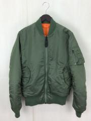 フライトジャケット/M/ナイロン/KHK/MA-1タイトジャケット