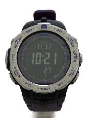 ソーラー腕時計/デジタル/--/BLK/PUP
