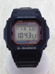タフソーラー腕時計/デジタル/PVC/BLK