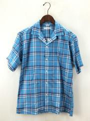 半袖シャツ/2/コットン/BLU/チェック