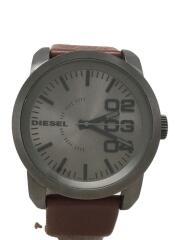 ディーゼル/クォーツ腕時計/アナログ/レザー/GRY/BRW