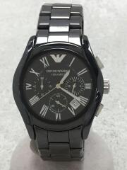 CERAMICA/クォーツ腕時計/アナログ/BLK/AR-1400/エンポリオアルマーニ