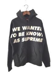 パーカー/M/コットン/ブラック/プリント/Known As Hooded Sweatshirt/20SS