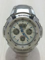 クォーツ腕時計/デジアナ/WHT/SLV/G-701D-7AJF