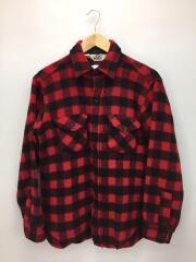 ネルシャツ/M/ウール/RED/チェック/80s-90s/ブロックチェック