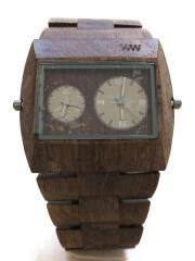WEWOOD/JUPITER RS/クォーツ腕時計/アナログ/ウッド/BRW