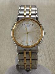 クォーツ腕時計/アナログ/GLD/SLV/18KTベゼル/9571-6020