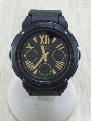 Baby-G/クォーツ腕時計/デジアナ/BLK/BLK/BGA-153-1BER