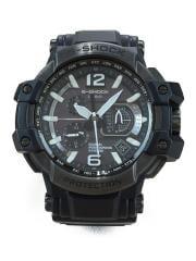 G-SHOCK/スカイコックピット/ハイブリッドGPS/ソーラー腕時計/BLK