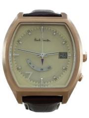 ソーラー腕時計/H416-S080851/アナログ/レザー/IVO/BRW