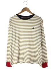 Tシャツ/M/コットン/ベージュ/ボーダー/SOPH-192091/SOPHNET.