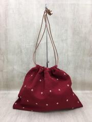 Charrita(チャリータ)/巾着バッグ/ハンドバッグ/コットン/RED/レッド/赤