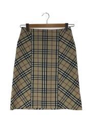 バーバリーチェック/スカート/36/コットン/BEIGE/ベージュ/チェック/FXA41-061