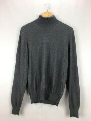 CUT OUT ELBOW PATCH KNIT/セーター(薄手)/M/コットン/GRY