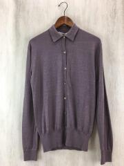 Polo-Shirt Cardigan/カーディガン/S/カシミア/PUP/EUK-5705-B/CA14-CO