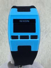 腕時計/デジタル/BLU/BLK
