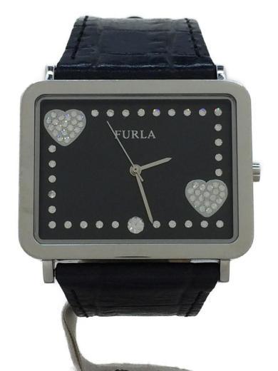 5484c566bbc2 Furla(フルラ) / クォーツ腕時計/アナログ/レザー/BLK/BLK | セカンド ...