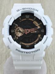 G-SHOCK/クォーツ腕時計/デジアナ/BLK/WHT