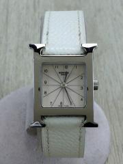 クォーツ腕時計/アナログ/レザー/BEG/WHT